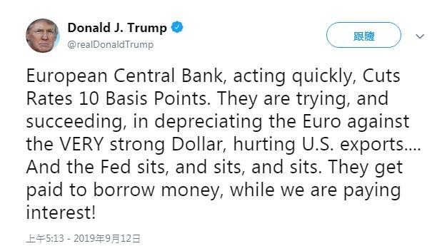 圖片來源:DonaldTrump's Twitter