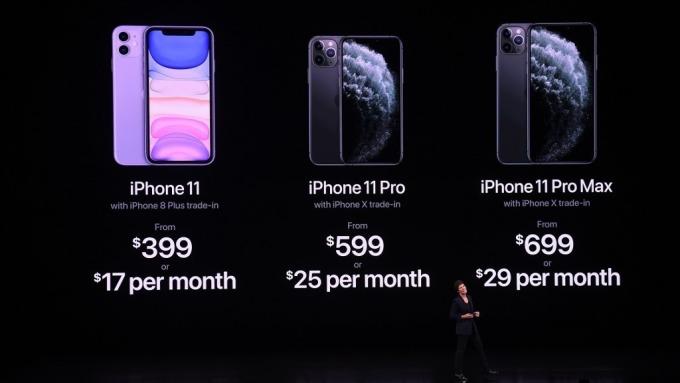 郭明錤:iPhone 11預購優於預期 上調今年出貨預估至7000-7500萬支(圖片:AFP)