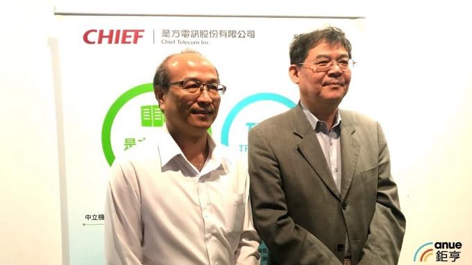 圖左為總經理劉耀元、右為董事長吳彥宏。(鉅亨網沈筱禎攝)