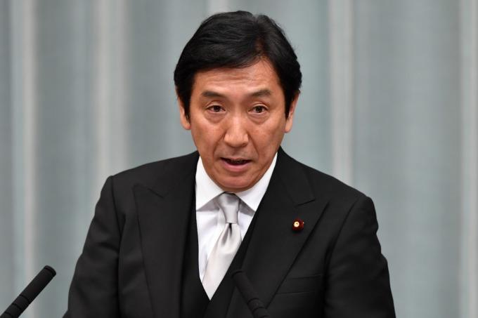 日本經濟產業大臣菅原一秀 (資料照片) (圖片:AFP)