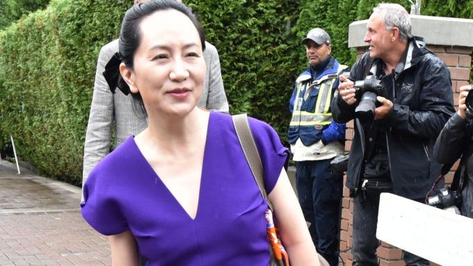 孟晚舟再次出庭 律師要求終止引渡程序(圖片:AFP)