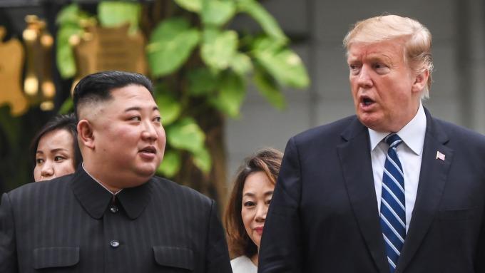 川金三會真的近了?川普樂觀表態「我們處得很好!」 (圖片: AFP)