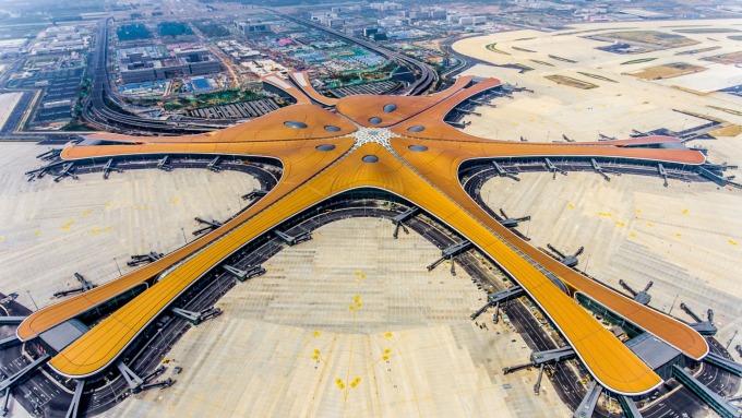 北京大興機場  (圖片:AFP)