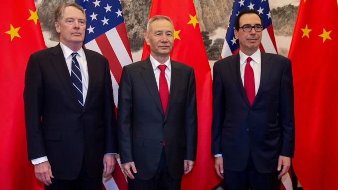 美中高層級貿易談判 傳10月10日華府登場。(圖片:AFP)
