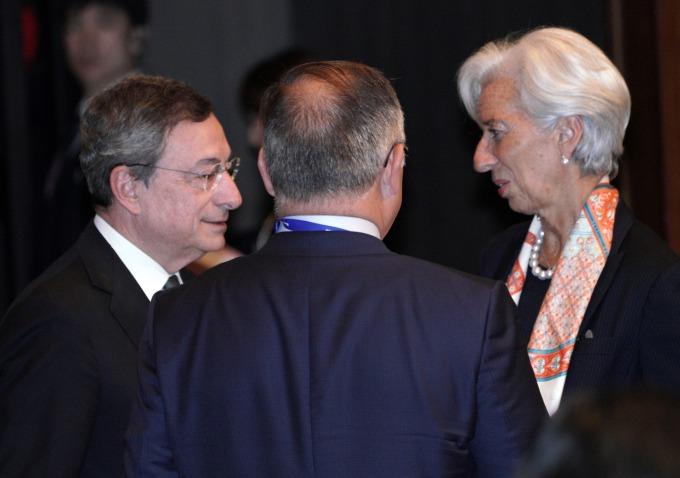 拉加德 (右)11 月接替德拉吉 (左) 出任 ECB 行長(圖:AFP)