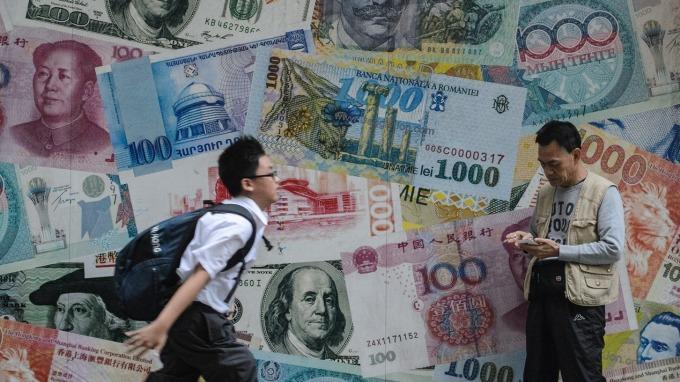 IMF數據:全球外儲美元占比降至近6年最低(圖片:AFP)