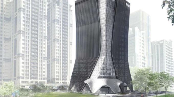 儒鴻企業新莊副都心企業總部,規劃地下4層樓、地上19層建築。(圖/儒鴻企業提供)
