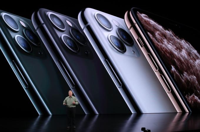 iPhone 11 Pro 產品線。(圖片:AFP)