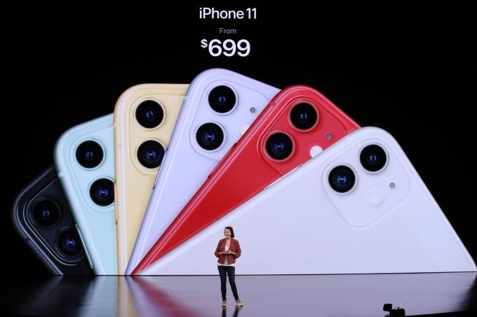 iPhone 11 產品線。(圖片:AFP)