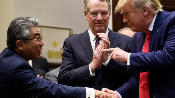 美日新貿協vs TPP比一比:有贏家也有輸家  (圖片:AFP)