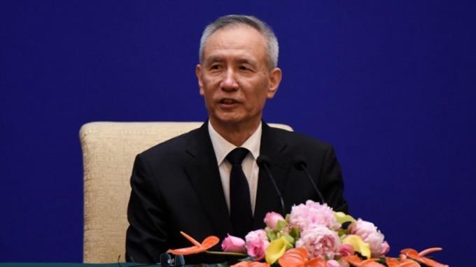 (圖片:AFP)中國貿易談判代表劉鶴