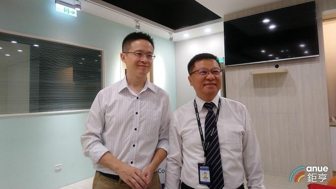 樺漢董事長朱復銓(右)與策略長李雨龍(左)。(鉅亨網資料照)