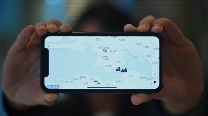 蘋果下架港警追蹤應用「HKmap.live」 (圖:AFP)