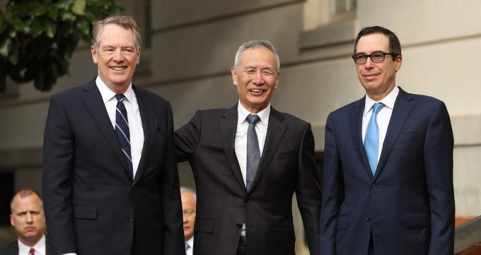 美中高層級談判首日進展順利。(圖片:AFP)