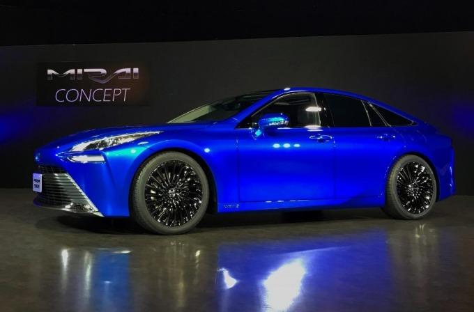 第二代 Mirai 外觀看起來就像體積較大的豐田油電混和車 Prius(圖片: 路透社)