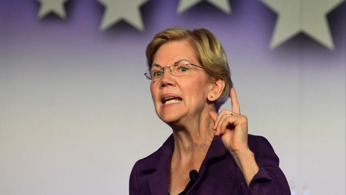 如果民主黨沃倫當選美國總統 對經濟和美股有何影響?(圖:AFP)