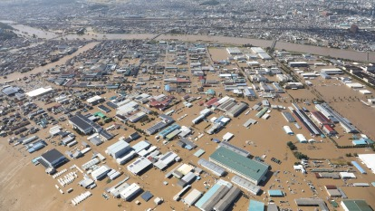 哈吉貝重創日本 太陽誘電等廠成受災戶。(圖片:AFP)