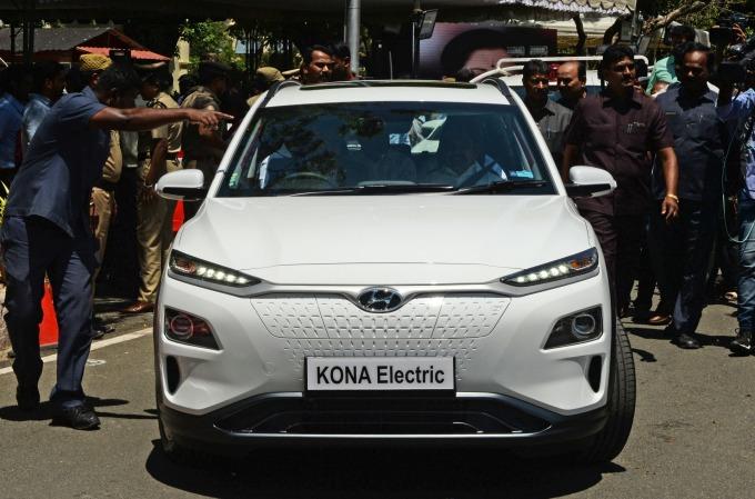 現代汽車的電動車NONA (圖片:AFP)