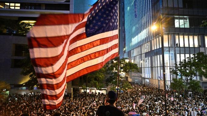 為人權發聲!美國眾議院通過《香港人權與民主法案》。(圖片:AFP)