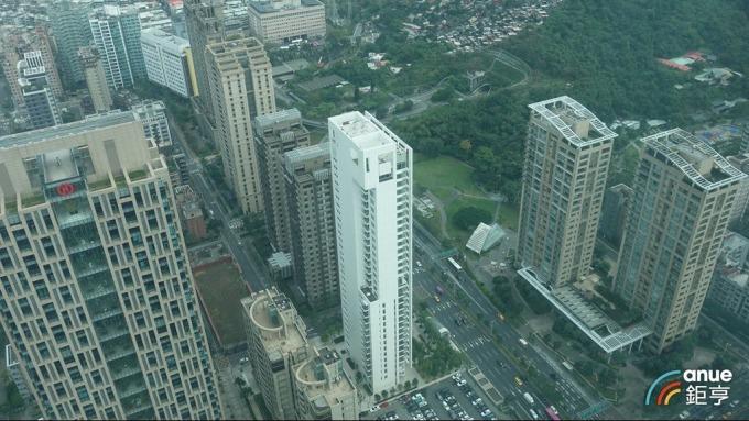 信義計畫區「琢白」10樓最新登錄成交每坪達201萬元。(鉅亨網記者張欽發攝)