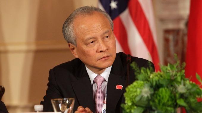 (圖片: AFP) 中國駐美大使崔天凱