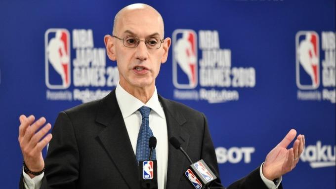 NBA總裁蕭華說中國危機帶來「重大」損失 不知未來何去何從(圖:AFP)