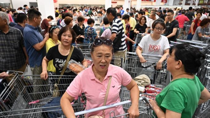 消費有改善 中國9月份零售年增7.8% 符合預期(圖片:AFP)
