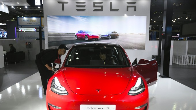 特斯拉Model Y預計2020年末生產  (圖片:AFP)