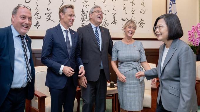 蔡英文:荷蘭是投資台灣最大外資 盼推動洽簽台歐盟BIA