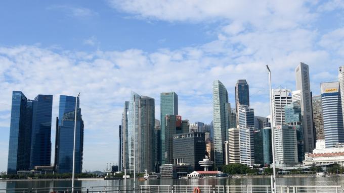 新加坡私有住宅房價Q3漲幅上修至1.3%(圖片:AFP)