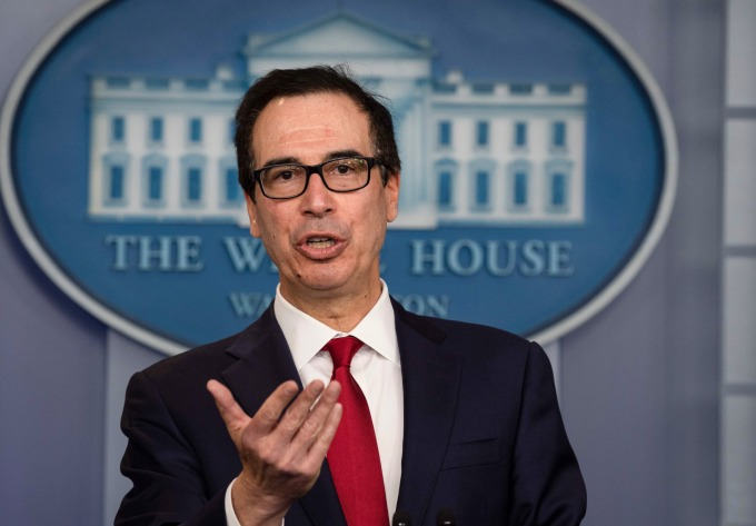 美國財政部長梅努欽。(圖片:AFP)