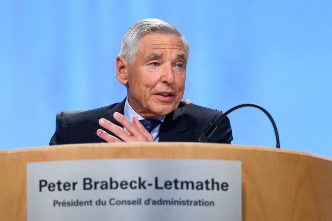 雀巢名譽董事長包必達 (Peter Brabeck-Letmathe)。(資料照片) (圖片:AFP)
