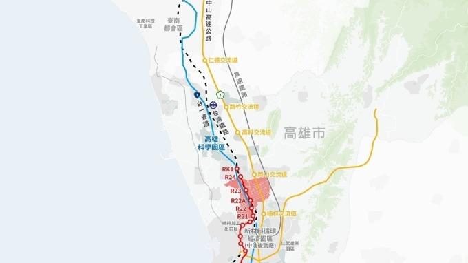 高雄新市鎮第二期發展區之區位示意圖。(圖:內政部營建署提供)