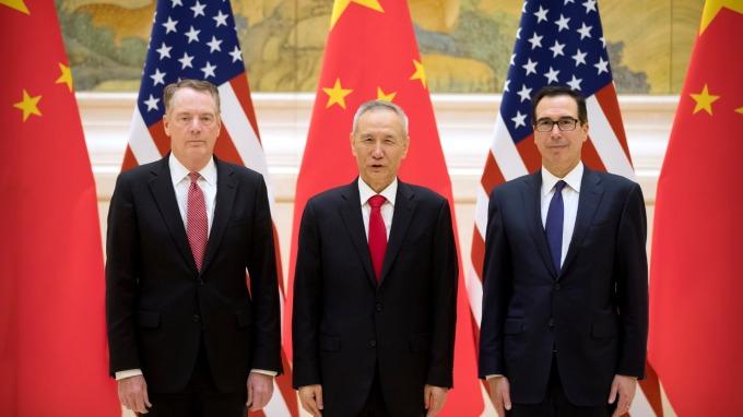 最新!中國商務部:本週高層級談判已取得原則共識。(圖片:AFP)