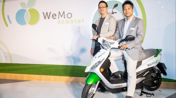 WeMo Scooter執行長吳昕霈(右)和技術長鄭捷(左)。(圖:WeMo提供)