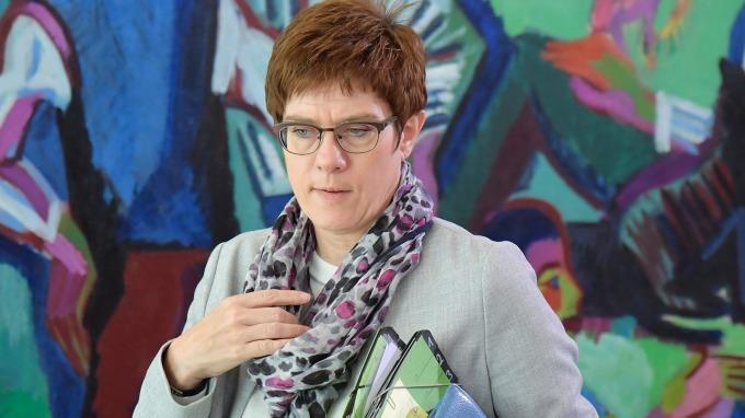 德國國防部長Annegret Kramp-Karrenbauer(圖片:AFP)