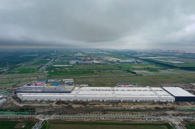 特斯拉上海超級工廠(圖片:AFP)