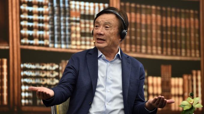喊話川普來中國相會 任正非:脫離美國華為也能生存 (圖片:AFP)