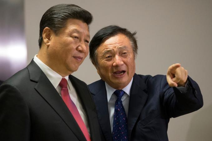 中國國家主席習近平與華為創辦人任正非 (資料照片) (圖片:AFP)