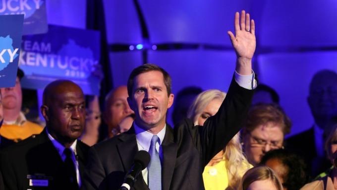 民主黨Andy Beshear宣布在肯塔基州長勝選(圖:AFP/Getty Image)