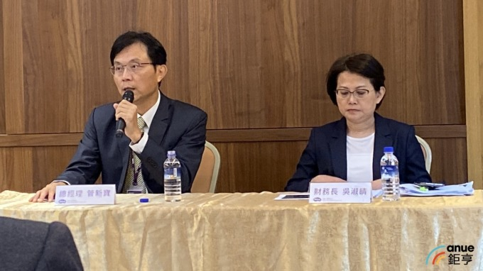圖左為明基三豐總經理管新寶,右為財務長吳淑晴。(鉅亨網記者沈筱禎攝)