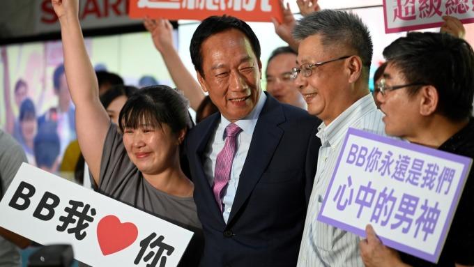 傳郭台銘有意再戰下屆總統 郭辦:2024什麼都有可能。(圖:AFP)