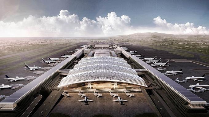 桃機第三航廈完工期估再延1年,主體工程預算仍短差百億。(圖:擷取自桃機公司官網)
