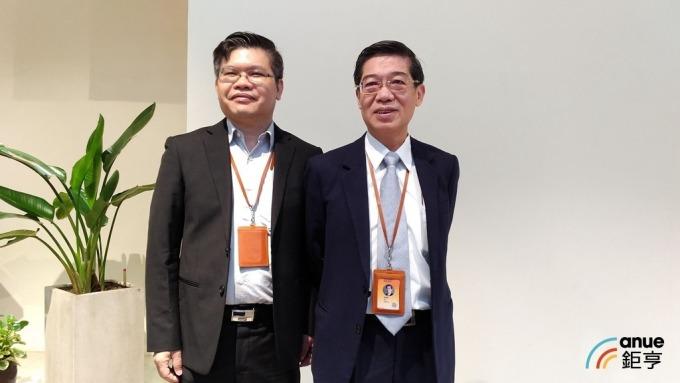 智邦董事長郭飛龍(右)及總經理李志強(左)。(鉅亨網資料照)