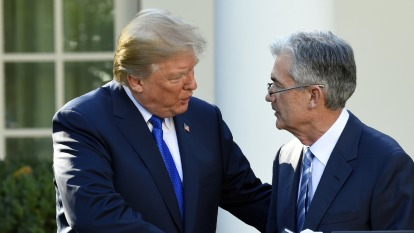 川普今年二度會鮑爾 談貿易與負利率。(圖片:AFP)