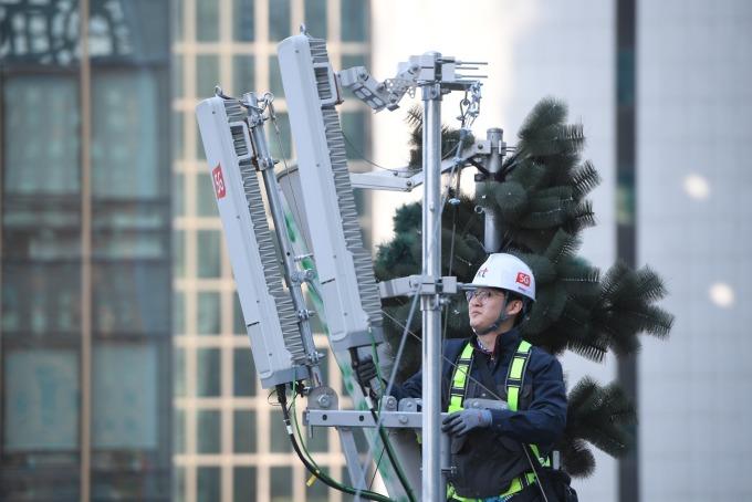 南韓 5G 設備日本零件比重高 將推國產化 (圖片:AFP)
