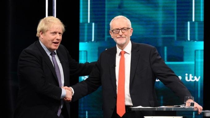 英國大選首場電視辯論 強生再度承諾迅速脫歐 柯賓要求二次公投(圖片:AFP)