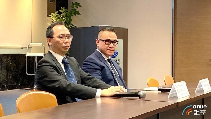 眾達董事長陳靖仁(右)、研發及銷售工程處處長趙偉州(左)。(鉅亨網記者劉韋廷攝)