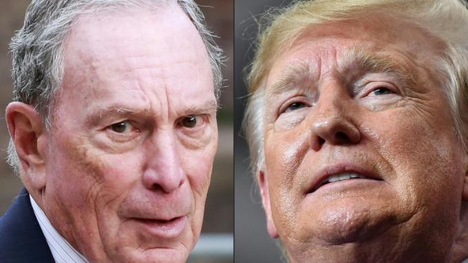 川普(右)連任的敵人是彭博嗎?(圖片:AFP)