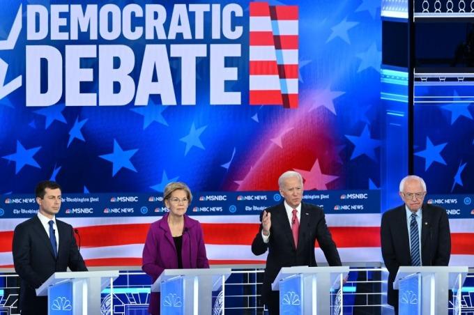 民主黨參選者眾 (圖: AFP)